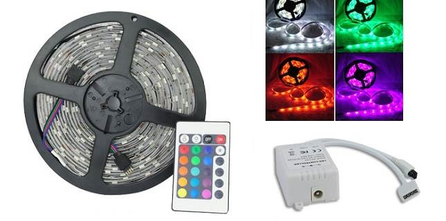 ISO LED Páska RGB ovladač 5m - color