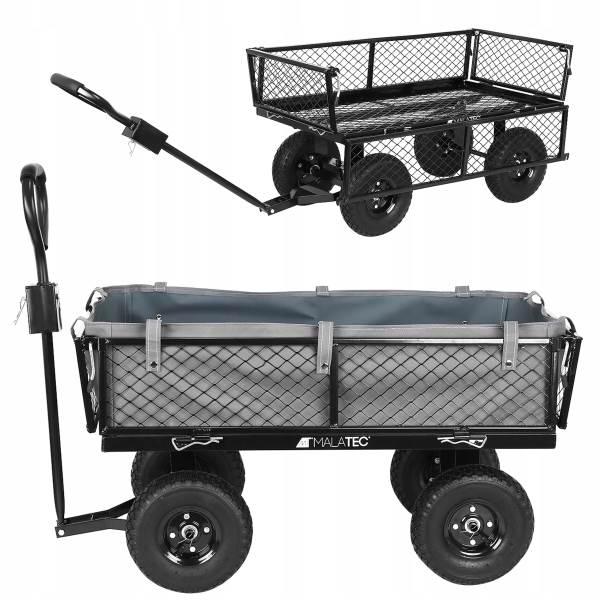 Malatec 9032 Zahradní vozík s výklopnými boky nosnost 350 Kg 1
