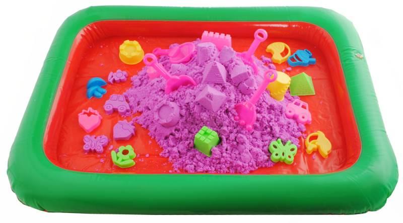 PlaySand Magický tekutý piesok 2000g + formičky + pieskovisko8