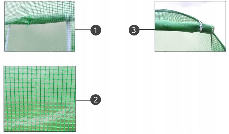 Malatec 10263 Náhradný plachta k fóliovníka 2 m x 2 m x 2 m2
