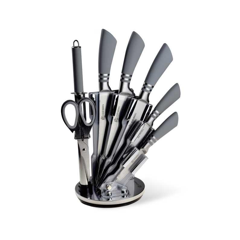 Edenberg EB-908 8dílná sada nožů šedá