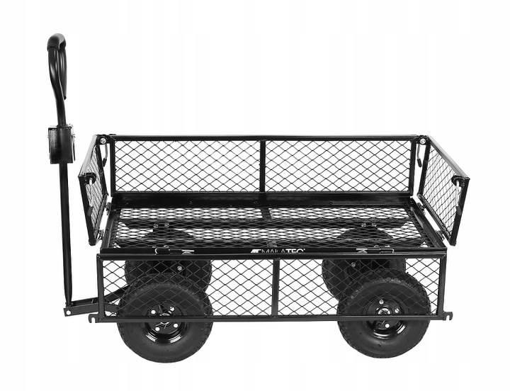 Malatec 9032 Záhradný vozík s výklopnými bokmi nosnosť 350 Kg2