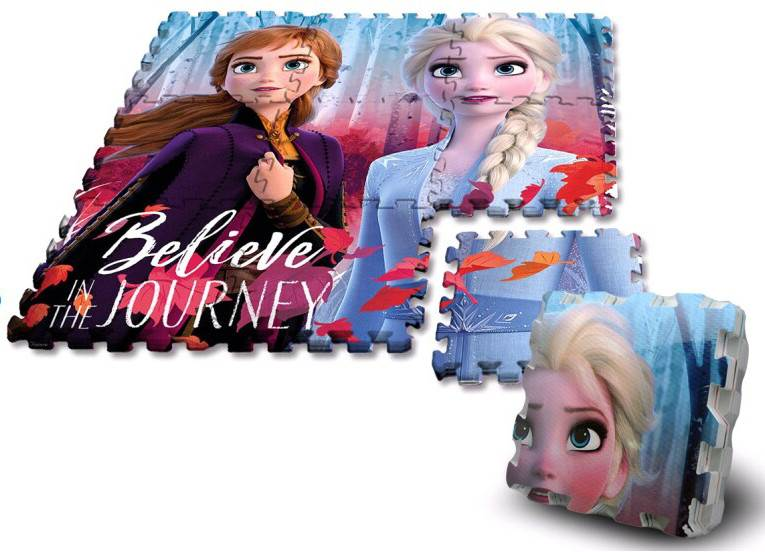 Javoli Pěnové puzzle na zem Disney Frozen 9 dílů