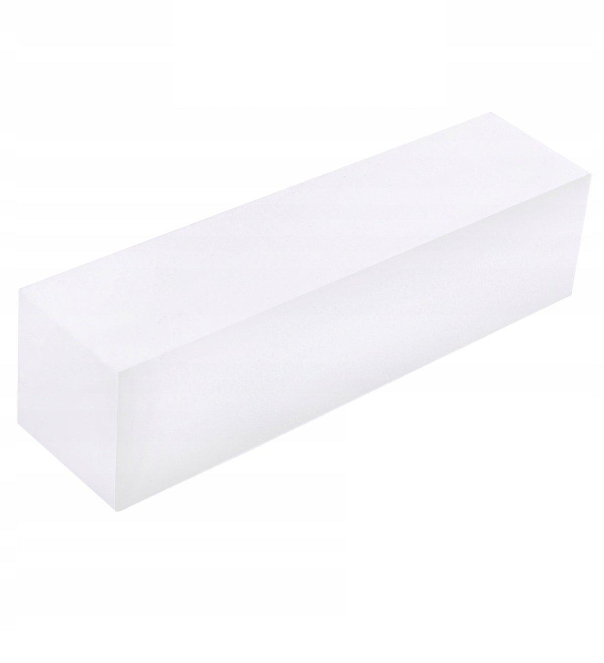 Beautylushh 8890 Leštička na nechty kváder štvoruholníka biela 10 ks
