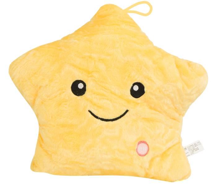 KIK KX7534_4 Plyšová LED hvězda svítící 38 cm žlutá