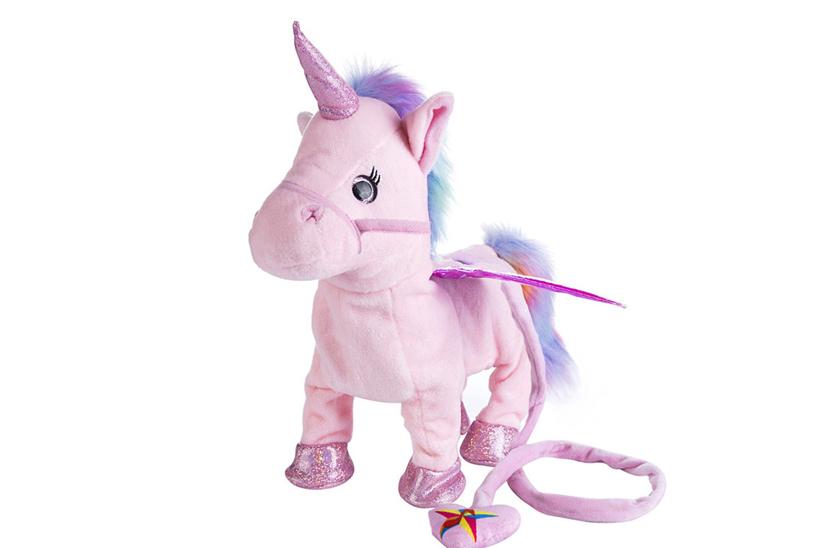 Effly Zpívající a chodící plyšový jednorožec Unicorn Roxy
