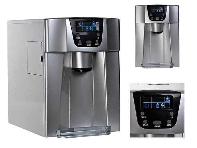 Malatec 9815 Výrobník ľadu s dispenzerom vody 12kg / 24h sivý