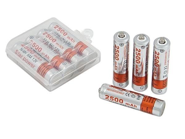 APT BC53 Nabíjacie batérie AAA STAR POWER 2500mAh NI-MH 4 ks
