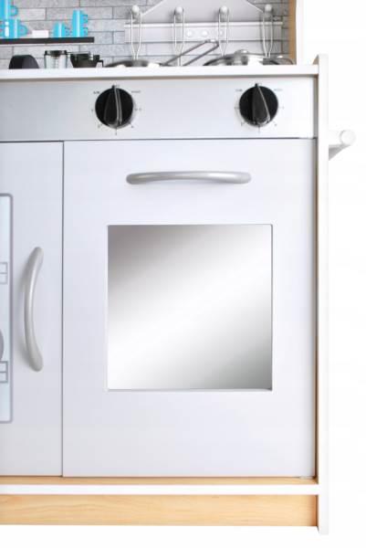 Kruzzel 9151 Dětská dřevěná kuchyňka s příslušenstvím XXL světle hnědá7
