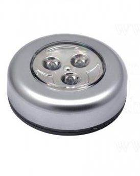 ISO Stick touch samolepiace lampička 3 LED strieborná