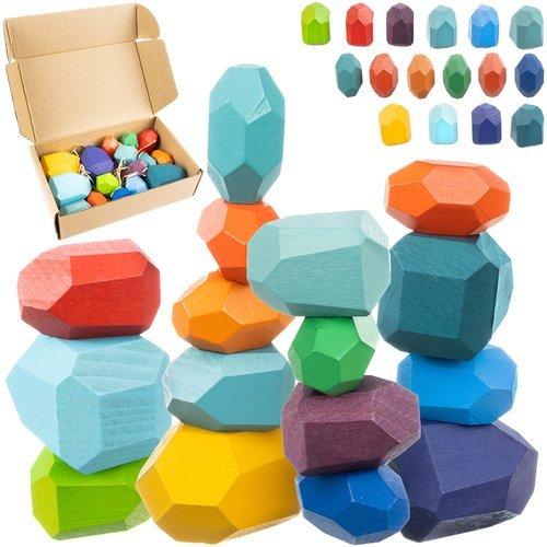 ISO Kreatívne balančné kamene drevené 16 ks