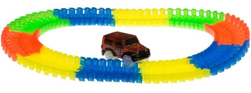 KIK Svietiace autodráha Track Car s autíčkom 80 dielikov