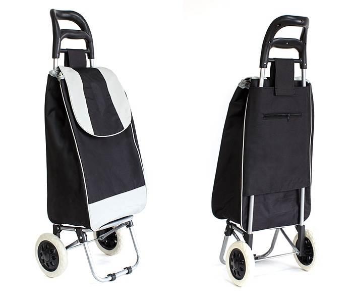APT Nákupná taška na kolieskach 25L čierno-šedá