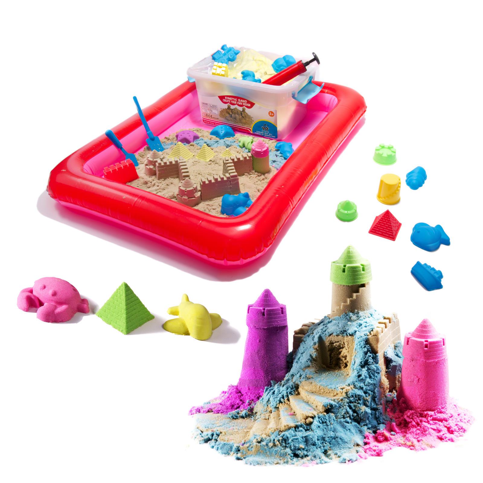 PlaySand Magický tekutý piesok 2000g + formičky + pieskovisko