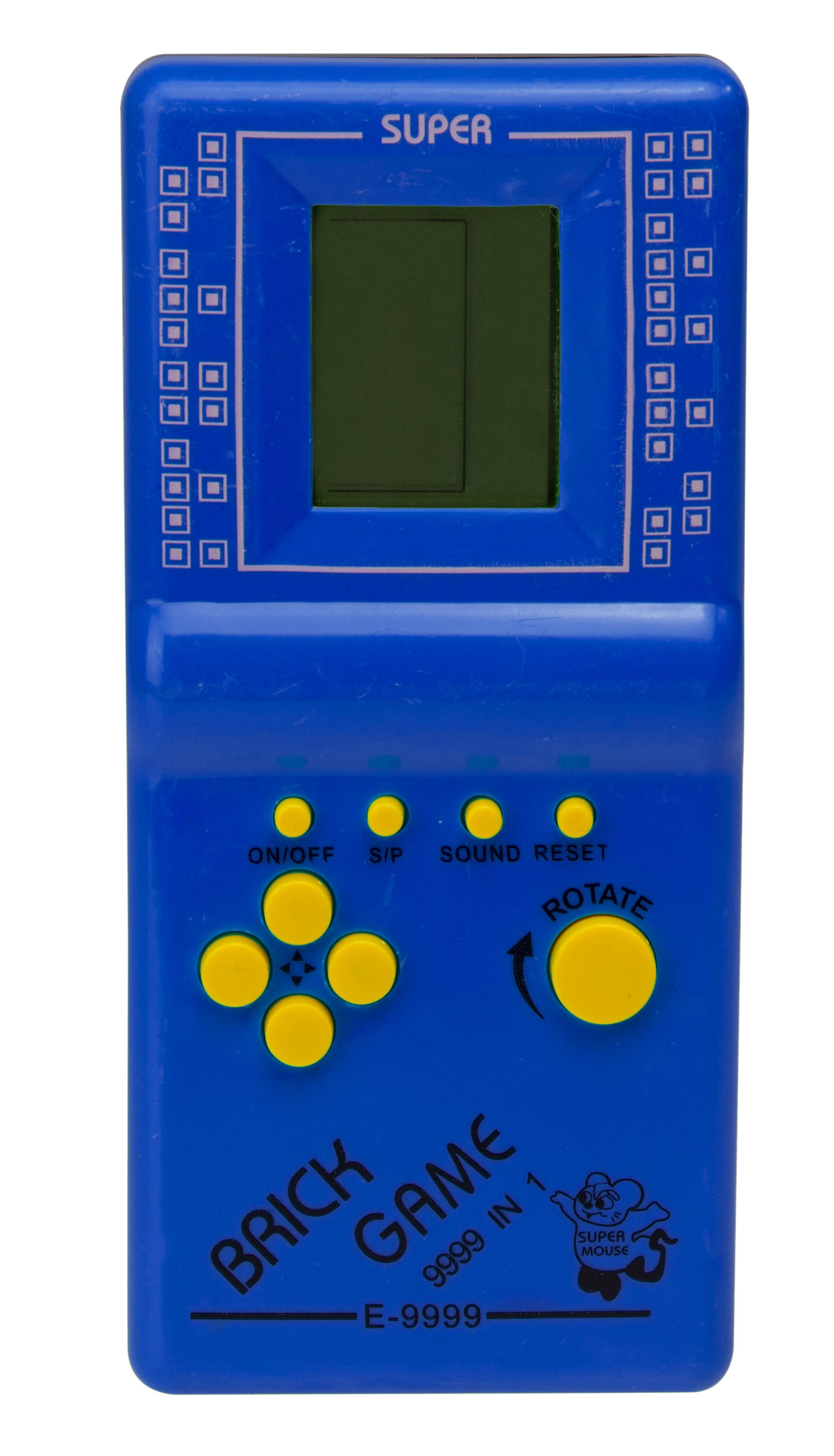KIK Digitálna hra Brick Game Tetris modrý