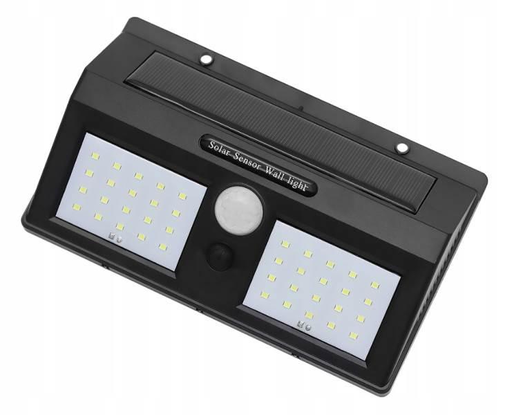 ISO 6683 Solární LED světlo s PIR čidlem pohybu 10W4