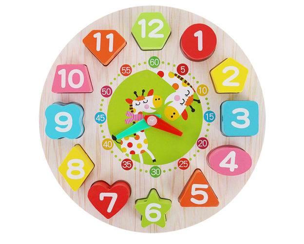 Kruzzel 9356 Dřevěné dětské edukační hodiny4