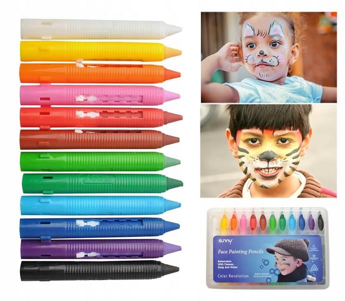 ISO 6608 Farby na tvár Color 12ks