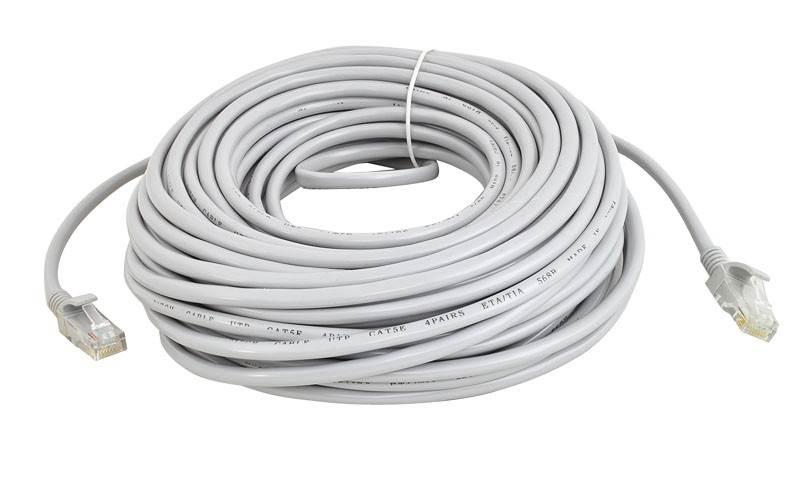 ISO 333 Sieťový kábel RJ45-RJ45, 20m šedá