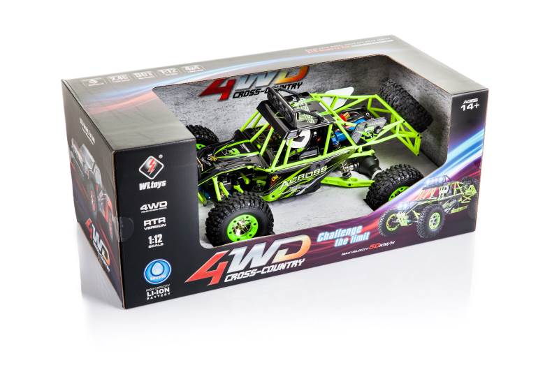 WL toys VODĚODOLNÁ Buggy 12428 1:12 zelená9