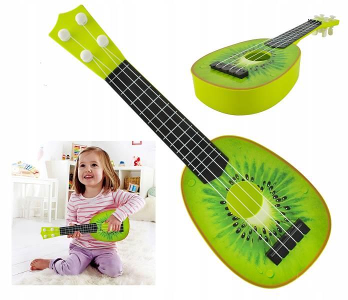 ISO 6152 Gitara ovocie Kiwi zelená 37 cm
