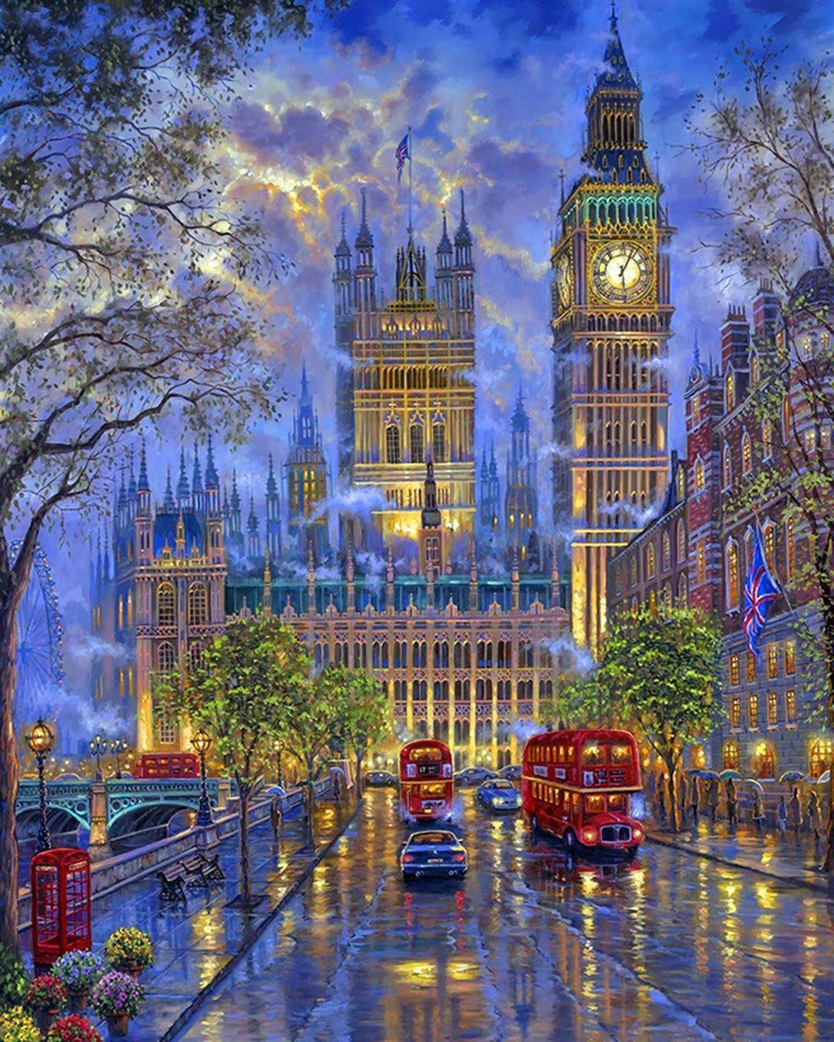 GFT Maľovanie podľa čísel - Londýn