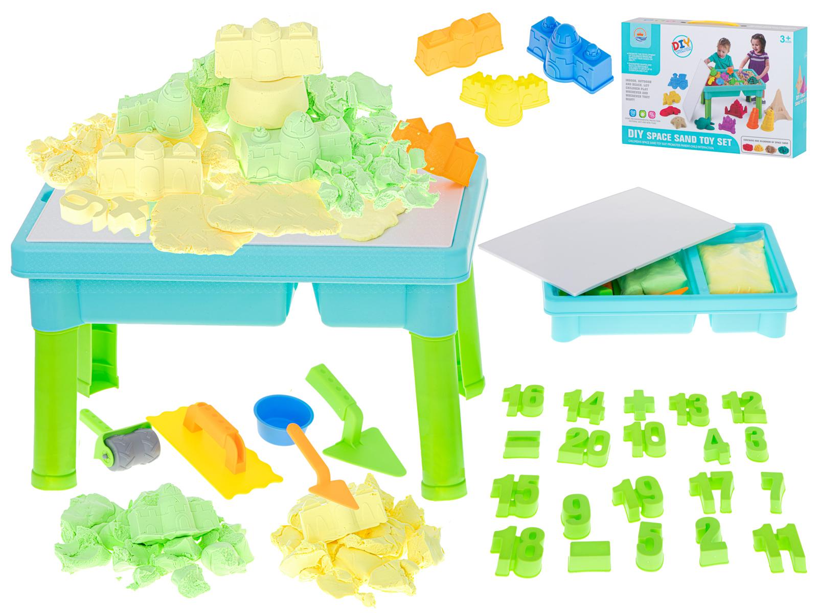 KIK KX6170 Kreatívne stolík na kinetický piesok Set 31 ks