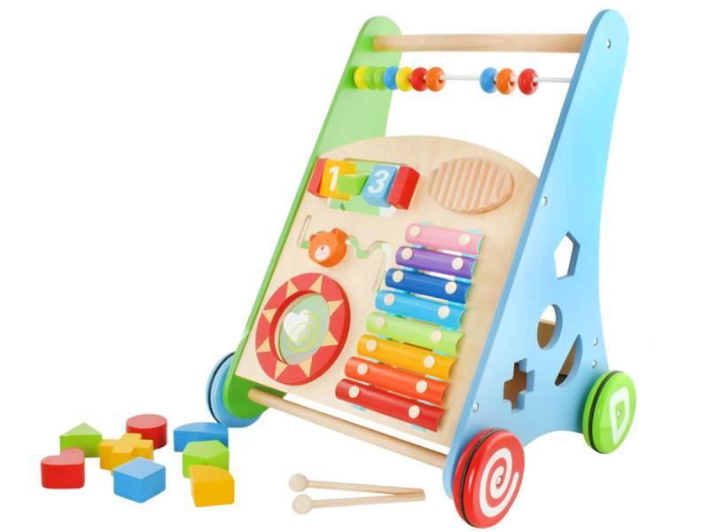 Baby Mix Dětské dřevěné edukační chodítko