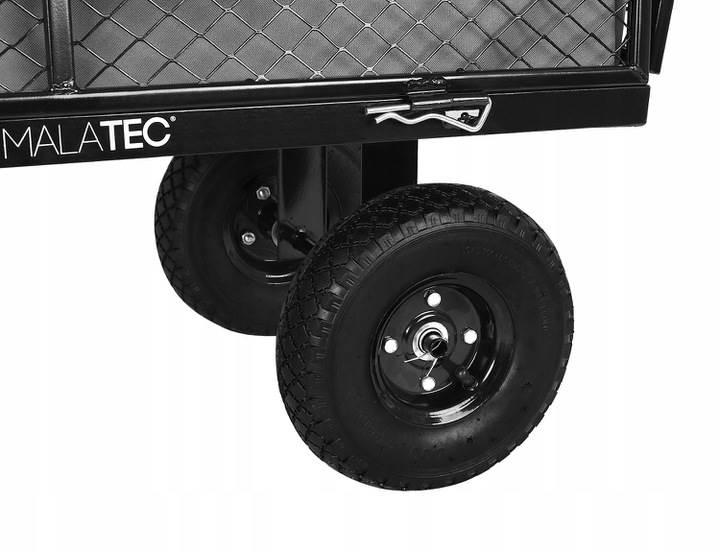 Malatec 9032 Zahradní vozík s výklopnými boky nosnost 350 Kg 6