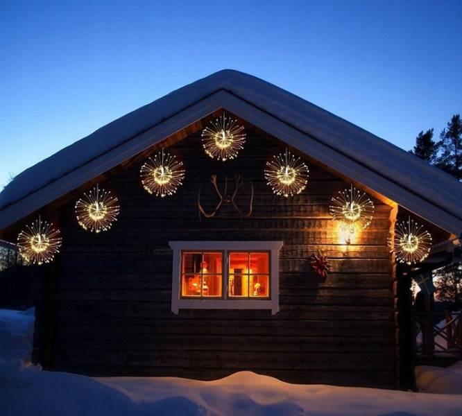 ISO 9515 Vánoční LED osvětlení ohňostroj 100 LED teplá bílá6