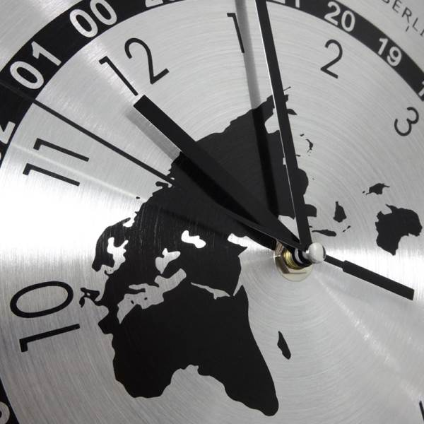 GT K70O Designové nástěnné hodiny Časová pásma 30 cm3