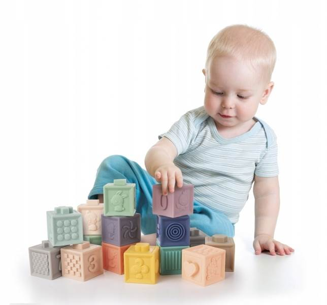KIK Měkké senzorické hrací kostky 10 ks1