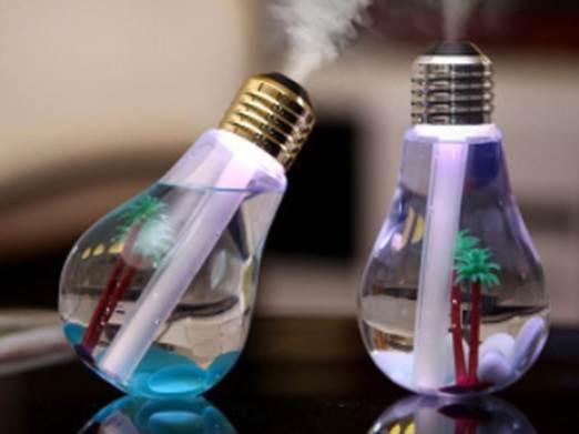 KIK KX7433 LED zvlhčovač vzduchu v podobe žiarovky