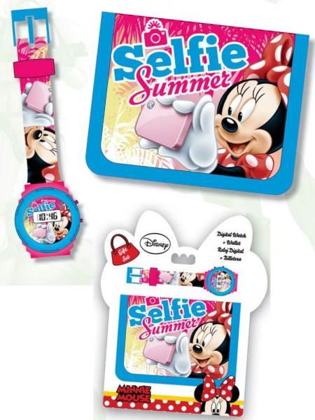 Javoli Darčeková sada Minnie Mouse Selfie peňaženka s hodinkami