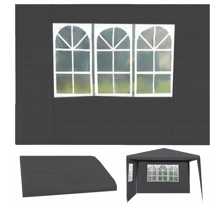 Malatec 12913 Bočnice pre stany 3 x 3 m s oknami sivá