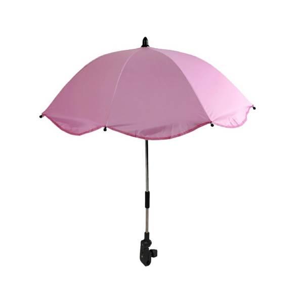 APT Slunečník na kočárek 66 cm růžový