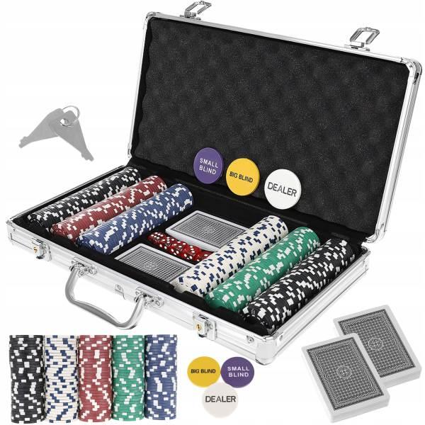 ISO 9554 Poker set 300 žetónov HQ