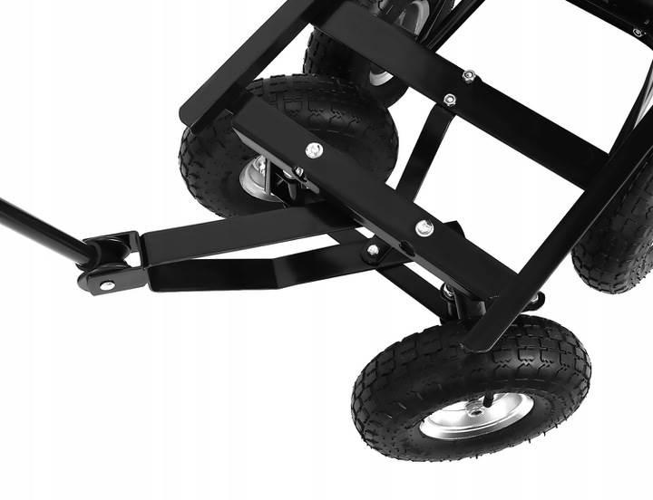 Malatec 9043 Zahradní přepravní vozík výklopný 350 Kg černá2