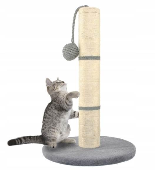 Malatec 7932 Škrabadlo stĺpik s hračkou šedá 45cm
