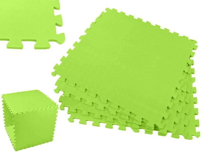 EVA Penový koberec 60 x 60cm - 4 ks zelená
