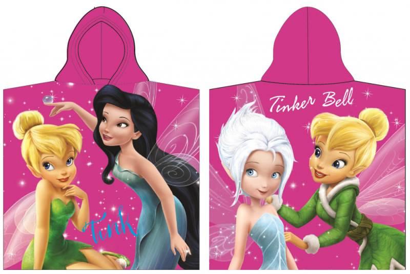 Javoli Disney Fairies Pončo 60 x 120 cm ružové