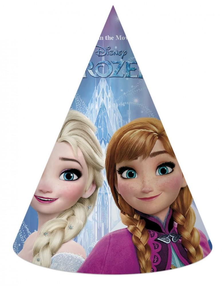 Javoli Papierová párty čiapočka Disney Frozen 6 ks