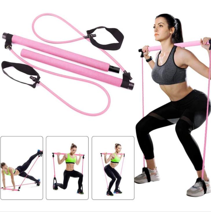 Effly Posilovací tyč s gumou – Pilates