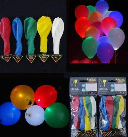 Gacek LED Svietiace balóniky 4 Ks