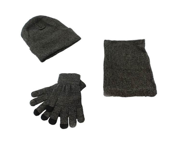 APT Set čiapka nákrčník rukavice šedá1