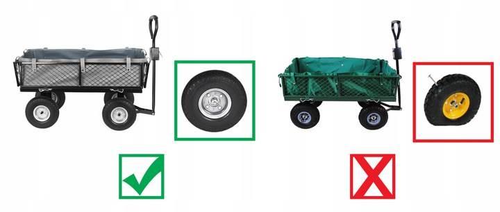 Malatec 9038 Záhradný vozík s výklopnými bokmi nosnosť 600 Kg4
