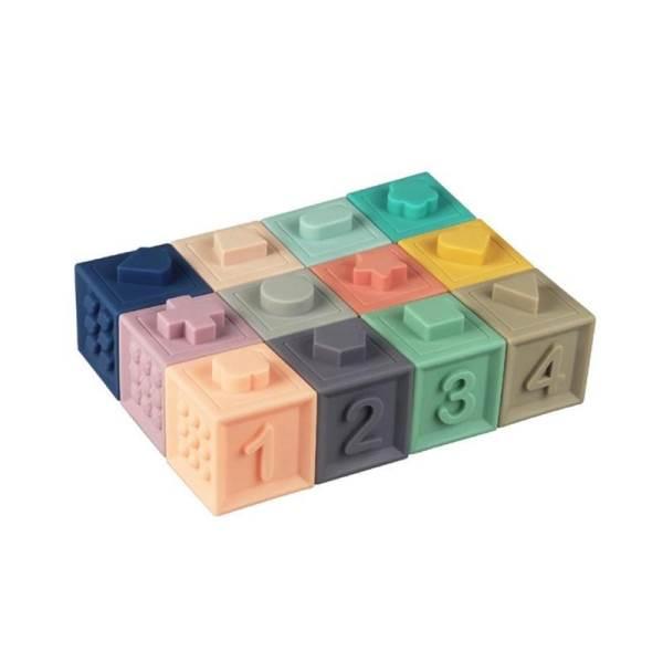 KIK Měkké senzorické hrací kostky 10 ks2