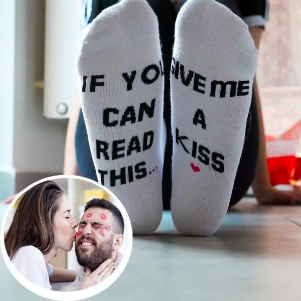 GFT Ponožky - pobozkaj ma biele