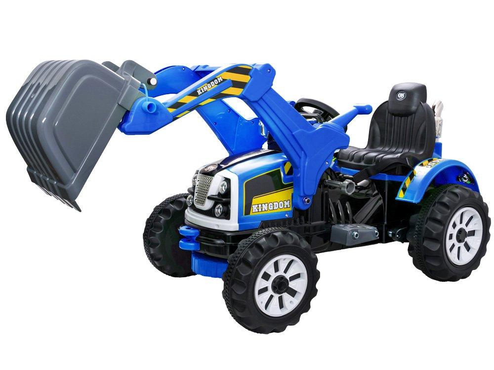 Joko PA0159 NI Elektrický traktor s pohyblivou radlicou modrý