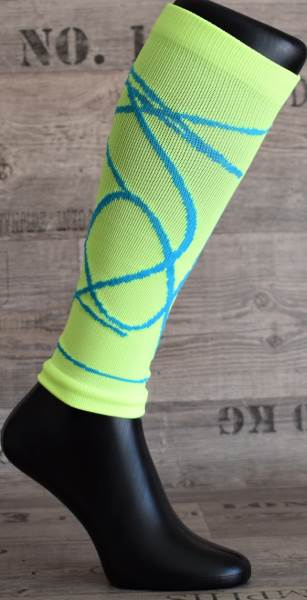 Happy Kompresný návleky zelené neon XL